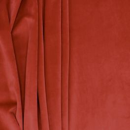 Velvet upholstery fabric - garnet red