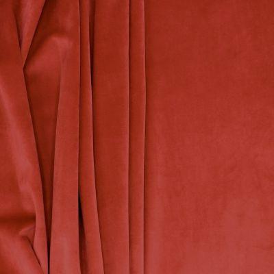 Velvet upholstery fabric - garnet red