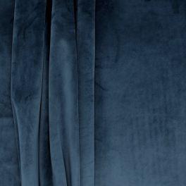 Tissu d'ameublement velours bleu nuit