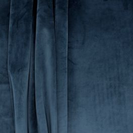 Velvet upholstery fabric - midnight blue