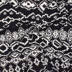 Printed jersey fabric in polyester