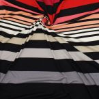 Striped panel of jersey fabric