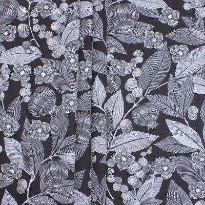 Meubelstof bedrukt met planten