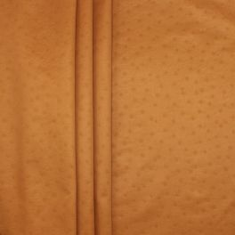 Satinised upholstery fabric with dots - camel