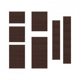Elastique émaillé marron de 7mm