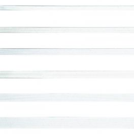 Gevlochten elastiek van 12mm - wit