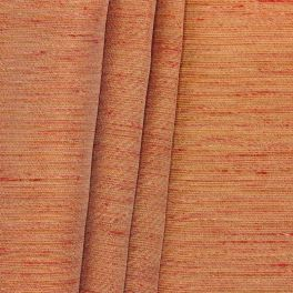Fabric with shiny linen effect - burnt orange