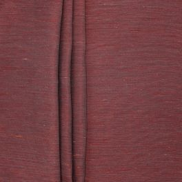 Fabric with shiny linen effect - red
