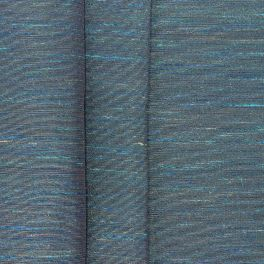 Fabric with shiny linen effect - turquoise