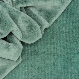 Bamboo terry cloth fabric - green