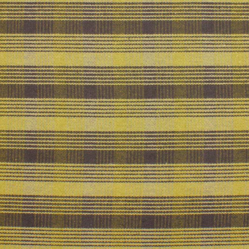 Tissu en coton et polyester gratté à carreaux vert et kaki