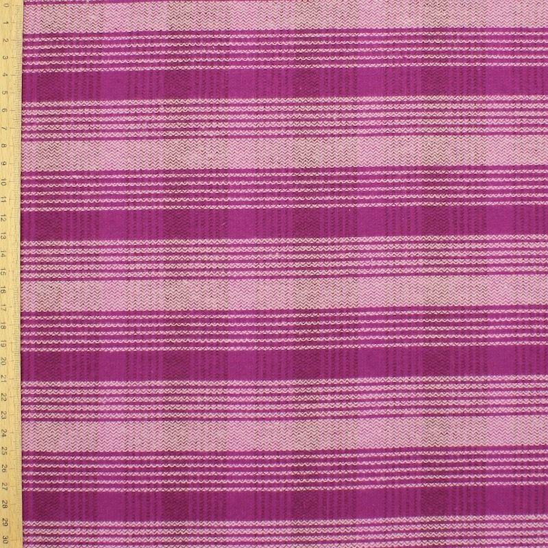 Roze katoen stof met ruiten