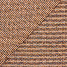 Tissu d'ameublement orange et bleu