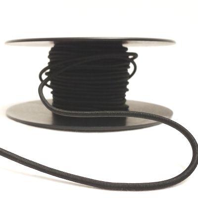 Elastische koord 4mm. Kleur Zwart