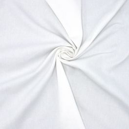 Tissu coton sergé blanc cassé