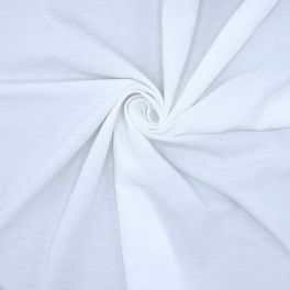Fabric in cotton and polyester - white