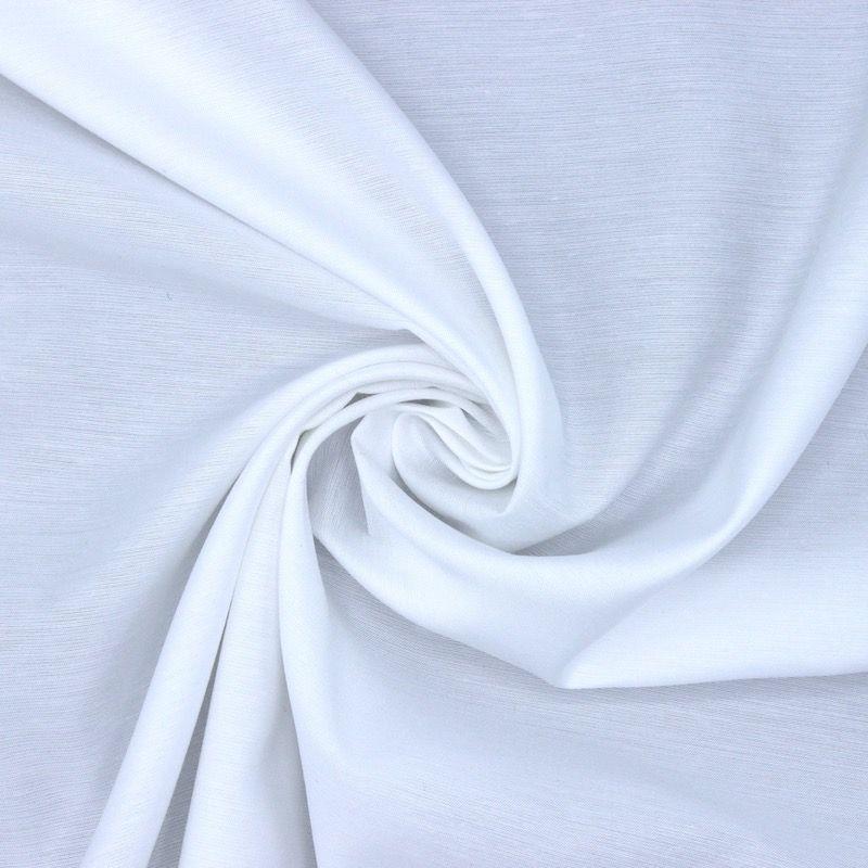 Tissu polyester blanc