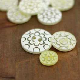 Resin button - transparent and champagne-colored