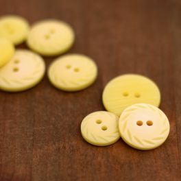 Fantasy resin button - yellow