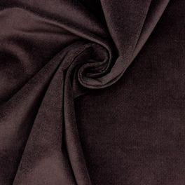 Velvet of smooth extensible cotton - brown