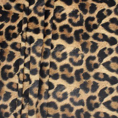 Velvet with digital print of animal