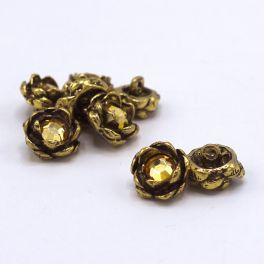 Boutons de forme floral en métal doré