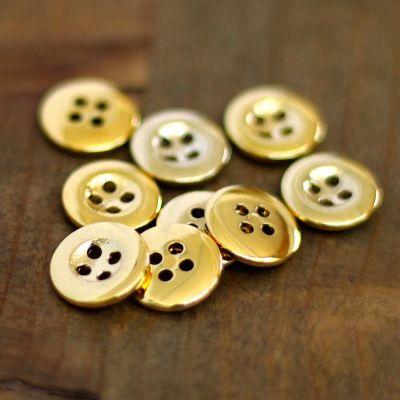 Metal button - gold