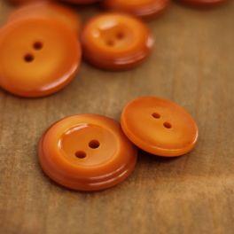 Round resin button - burnt orange
