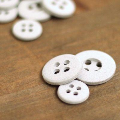 Resin button - mottled grey