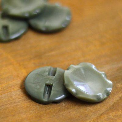 Fantasy button - verdigris