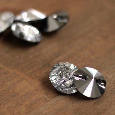 Transparent round button