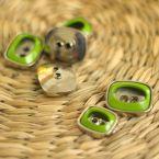 Knoop met zilveren metaan en olijfgroen aspect