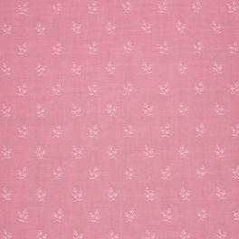 Tissu d'ameublement à motif floral ton sur ton