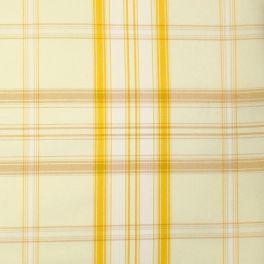 Tissu d'ameublement à carreaux jaune