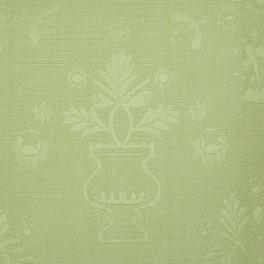 Tissu d'ameublement effet piqué vert lichen