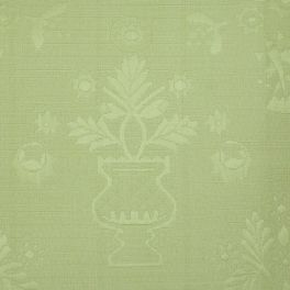 Upholstery fabric with piqué effect - lichen green
