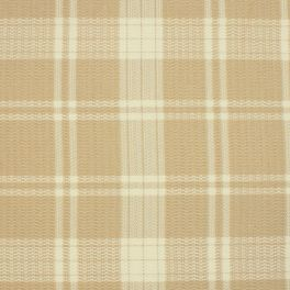 Checkered upholstery fabric - beige and ecru