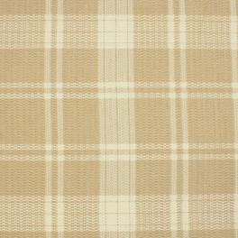 Tissu d'ameublement à carreaux beige et écru