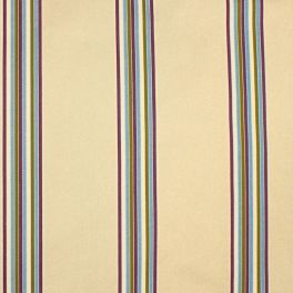 Satinised upholstery fabric with stripes