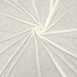 Light jersey fabric with flamed effect - off white