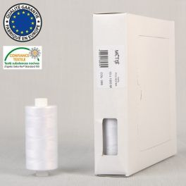 Sewing thread 1000m - white