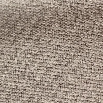 Tissu opacifiant effet gros lin uni beige