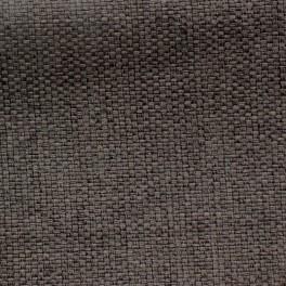 Tissu opacifiant effet gros lin uni brun