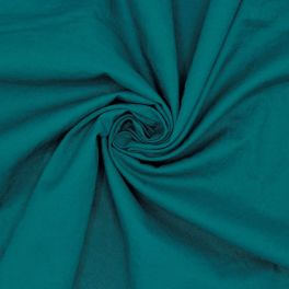 Washed cotton - peacock green