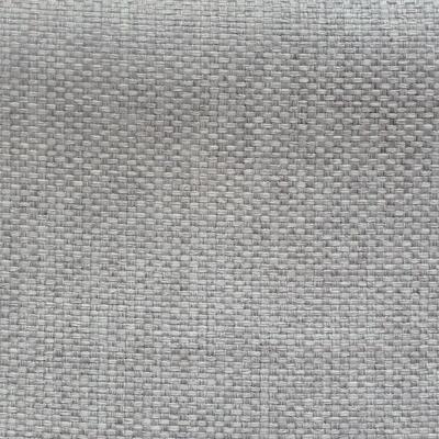 Tissu opacifiant effet gros lin uni gris