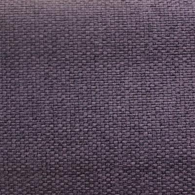 Tissu opacifiant effet gros lin uni mauve