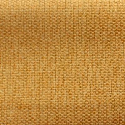 Tissu opacifiant effet gros lin uni jaune