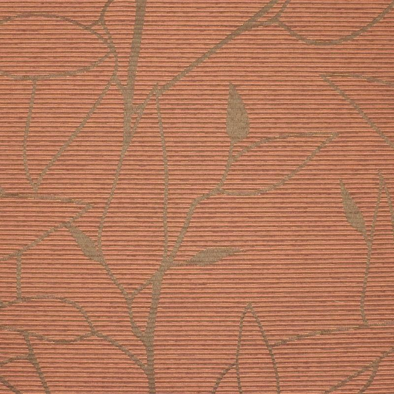Flexible jacquard with leaves pattern and chenille thread