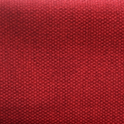 Tissu opacifiant effet gros lin uni rouge