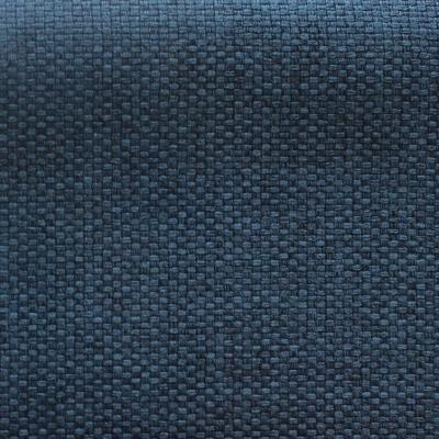 Blauwe groot linnen effect opacifierende stof